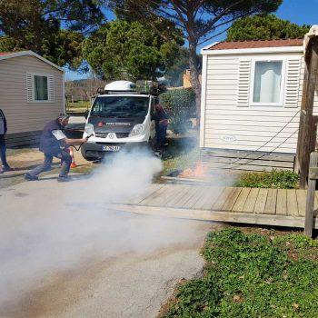 Prev'Concept Formations, prévention incendie dans un camping